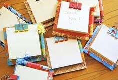 Sticky note holders - 15 Homemade Gifts That Kids Can Make for Teachers I Homemade Teachers Gift Ideas - ParentMap