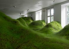 """Not Red But Green"" - a grassy valley crammed into an Oslo gallery 