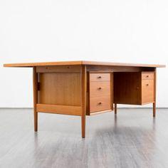 1960s executive desk, version 206, A. Vodder for Sibast Karlsruhe Velvet-Point