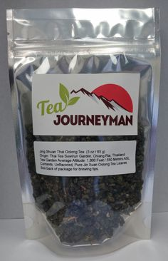 Jing Shuan Thai Oolong Tea in Three Ounce Packet. Now available for purchase at http://www.teajourneymanshop.com!