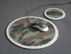 CAMOFLAUGE & BLING Mousepad/Coaster Set by LaurieBCreations, $14.00