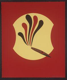 Artwork page for 'Freud's Smoke', Patrick Caulfield, 1997 Pop Art, James Rosenquist, Contemporary Printmaking, Claes Oldenburg, Jasper Johns, Roy Lichtenstein, Oil Painters, Great Paintings, Photorealism