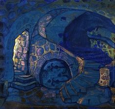 The artist is Nicholas Roerich and this work is titled Vault