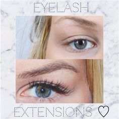 Click to see full review & more before & after pics of eyelash extensions♡