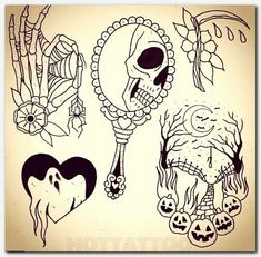 Flash Art Tattoos, Body Art Tattoos, New Tattoos, Cool Tattoos, Finger Tattoos, Heart Tattoos, Tattoo Flash Sheet, Forearm Tattoos, Art Halloween