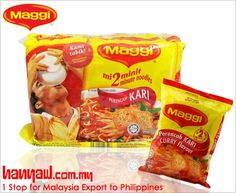 We export Maggi Curry Instant Noodles to philippines. Visit- http://www.hanyaw.com.my/Products/Maggi_Noodles_Instant_Curry.html