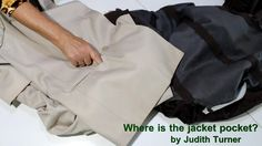 It looks like there is a pocket in the jacket, but it will not open. This quick video shows how the manufacturer closes the pocket and how to open them.