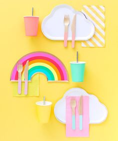 The most important ingredient to a succesfull kids birthday party themes is organaization. Like most projects, birthday party planning . Rainbow First Birthday, Rainbow Theme, Rainbow Pinata, Rainbow Balloons, Unicorn Party, Unicorn Birthday, Kids Art Party, Cloud Party, Rainbow Party Decorations