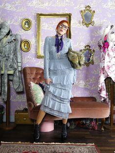 The wardrobe of Ms. B: Purple rain