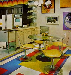 Better Homes and Gardens, dated 1970 to 1973. - Love the table set