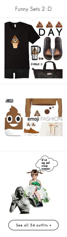 """""""Funny Sets 2 :D"""" by mari-777 ❤ liked on Polyvore featuring River Island, Bamboo, Throwboy, adidas, NSF, Love Moschino, Robert Clergerie, Lauren B. Beauty, emojifashion and art"""