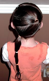 Shaunell's Hair: Little Girl's Hairstyles - How to do a zig zag puffy braid ponytail 7-10 min