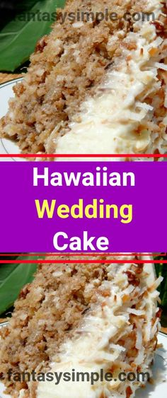 Hawaiian Wedding Cake with Whipped Cream Cheese Frosting |
