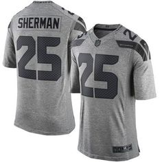 ... Jersey Nike Seahawks 25 Richard Sherman Gray Mens Stitched NFL Limited  Gridiron Gray ... 5998347fe