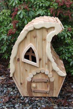 Fairy garden houses, gnome garden, garden cottage, diy fairy house, gnome h Fairy Garden Houses, Gnome Garden, Garden Cottage, Diy Fairy House, Fairy Village, Fairy Crafts, Gnome House, Fairy Doors, Miniature Fairy Gardens