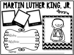 Martin Luther King, Jr. Craftivity and Printables in English and Spanish