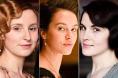 (L-R) Laura Carmichael as Edith Crawley, Jessica Brown Findlay as Sybil Crawley, and Michelle Dockery as Mary Crawley of 'Downton Abbey.' (Courtesy of Carnival Film & Television Limited 2012 for Masterpiece)