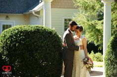Elizabeth + Patrick's Wedding at Lenora's Legacy. Photo credit: Cureton Photography  Bride and groom during first look.