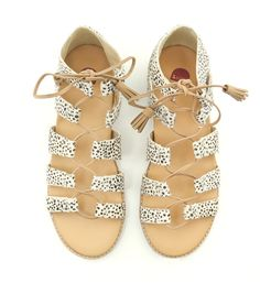 Bared Shoes: Lace up sandal, $229