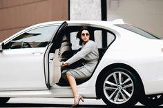 Anna Russka Анна Русска BMW MILAN Fashion Week Street Style