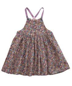 Liberty London Childrenswear Age 3M to 18M Chive Print Pinny Dress   Baby Clothing by Liberty London Childrenswear   Liberty.co.uk