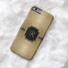 iPhone 6 Cases | Gold Leaf Look Fleur de Lis Faux Vintage Jewel iPhone 6 Case