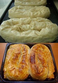 How to make the Sarıyer (stuffed with the minced meat, chopped onion and the spices -an Istanbul speciality) rolled pastry. Albanian Recipes, Turkish Recipes, Pastry Recipes, Baking Recipes, Savory Pastry, Recipe Mix, Bread And Pastries, Food Humor, Snacks
