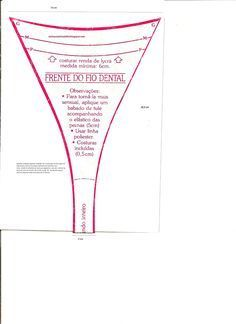 molde de calcinha fio dental - Pesquisa Google