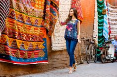 MARRAKECH 2017 #newcollection #springsummer #ss #chiaradalba #marrakech #jeans #bluejeans #denim #skinny #application #tasche #strass #semplicità #woman #outfit #oodd #outfitoftheday #volant #fantasia #colours