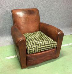 Fauteuil club cuir vintage #fauteuil #chair #vintagefurniture #vintage #50s