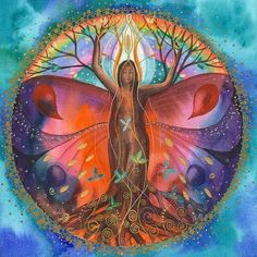 Mother Mary ~ Earth is Now Going into a New Era of Love and Light Mother Mary Monday, February 2018 Channel: Ann Dahlberg I am Mother Mary and I wa(. Mandala Art, Tree Of Life Art, Tree Art, Spirited Art, Goddess Art, Visionary Art, Sacred Art, Art Pictures, Art Inspo