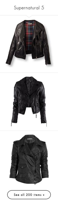 """""""Supernatural 5"""" by mermaidprincezz ❤ liked on Polyvore featuring outerwear, jackets, leather jackets, coats & jackets, quilted jacket, real leather jackets, quilted leather jackets, 100 leather jacket, genuine leather jackets and tops"""