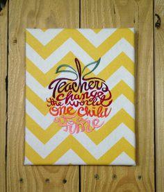 Great Teacher S Gift Canvas Wall Art Reads Teachers Change The
