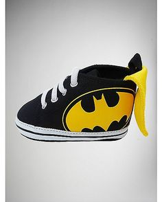 Batman Caped Infant High Tops - Spencer's