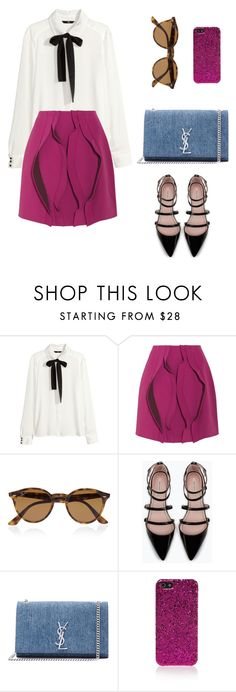 """Untitled #56"" by wooniverse on Polyvore featuring H&M, Opening Ceremony, Ray-Ban, Zara and Yves Saint Laurent"