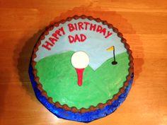 Dad's golf cake