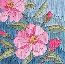 Camelias 'Silken' Long Stitch Kit SLS13