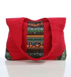 ETHNIC PATTERN DETAILED CANVAS BAG