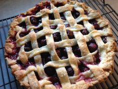 Cherry-Mascarpone Lattice-Top Pie