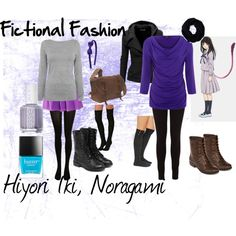 """Noragami, Hiyori Iki"" by fictional-fashion on Polyvore"