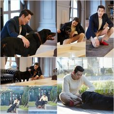 Such a lucky dog, he could got a stroke from my lovely Woobin (!`☐´)づ)˚з°)