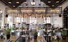 Bar-Restaurant Mercat in Amsterdam.  Mercat is volledig geïnspireerd door typische Spaanse markthallen, zoals de wereldberoemde Mercat de La Boqueria in Barcelona.