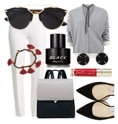 """""""Sunday Afternoon"""" by stephanie-mcclaran ❤ liked on Polyvore featuring Brunello Cucinelli, Basler, Jimmy Choo, Smith & Cult, Kenneth Cole, Melissa Joy Manning and Bohemia"""