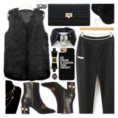 """""""Yoins black look"""" by pastelneon ❤ liked on Polyvore featuring Gucci, Kate Spade, Casetify, yoins, yoinscollection and loveyoins"""