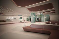LIV HOSPITAL / ANKARA / Render / LOBİ