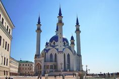 The Qol-Şärif Mosque is the largest and the most beautiful mosque in Kazan