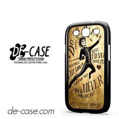 My Chemical Romance Lyrics DEAL-7538 Samsung Phonecase Cover For Samsung Galaxy S3 / S3 Mini