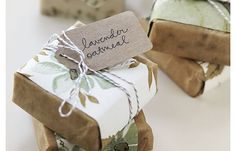 Handmade soap: eco wedding favor! by bella figura letterpress, via Flickr