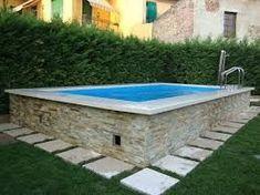 Resultado de imagem para piscina de alvenaria acima do solo