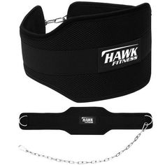 Hawk Fitness Weight Lifting Dipping Belt With Chain Dip Belt Pull Up Belt Training Bodybuilding Crossfit 1 YEAR WARRANTY!!!!. Constructed from the highest quality neoprene dip belt for strength and durability! With a heavy inner padding to ensure that this Dipping Belt can withstand heavy weights. Our Dipping belt can be used for a variety of exercises to increase the resistance of the user which allows for extreme muscle building, whether it's pull ups or dips our dipping belt will…